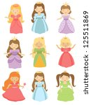 a cute collection of beautiful... | Shutterstock .eps vector #125511869