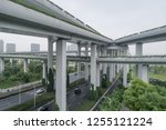 aerial view of elevated road... | Shutterstock . vector #1255121224