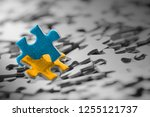 pieces of a puzzle | Shutterstock . vector #1255121737