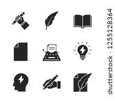 copywriting black icons | Shutterstock .eps vector #1255128364