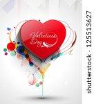 valentine's day background ...   Shutterstock .eps vector #125513627