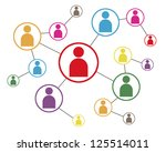 social network icon map | Shutterstock . vector #125514011
