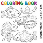 Coloring Book Freshwater Fishe...