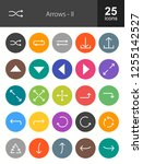 arrows filled icons | Shutterstock .eps vector #1255142527