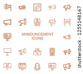 editable 22 announcement icons... | Shutterstock .eps vector #1255148167