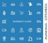 editable 22 shipment icons for... | Shutterstock .eps vector #1255148221