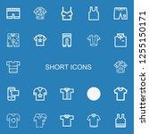 editable 22 short icons for web ... | Shutterstock .eps vector #1255150171
