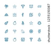 editable 25 exotic icons for...   Shutterstock .eps vector #1255150387