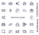 editable 22 receive icons for... | Shutterstock .eps vector #1255150414