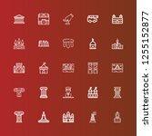 editable 25 historical icons... | Shutterstock .eps vector #1255152877