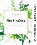 floral wedding invitation or... | Shutterstock .eps vector #1255153294