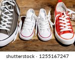 conceptual image of gumshoes... | Shutterstock . vector #1255167247