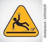 wet floor caution sign. vector... | Shutterstock .eps vector #125518229