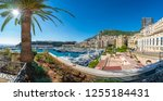 view on principality of monaco... | Shutterstock . vector #1255184431