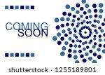 coming soon. horizontal banner... | Shutterstock .eps vector #1255189801