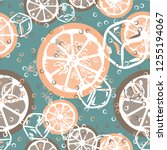 fruit seamless pattern with...   Shutterstock .eps vector #1255194067