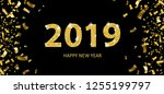 golden confetti with the text...   Shutterstock .eps vector #1255199797