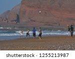 legzira beach  morocco  ...   Shutterstock . vector #1255213987