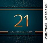 realistic twenty one years...   Shutterstock .eps vector #1255215121