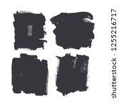 set of different square brush... | Shutterstock .eps vector #1255216717