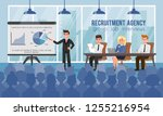 recruitment agency and group... | Shutterstock .eps vector #1255216954