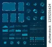 hud elements set. graphic... | Shutterstock . vector #1255231624