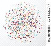 colorful circular confetti...   Shutterstock . vector #1255231747