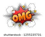 comic speech bubble with...   Shutterstock .eps vector #1255235731