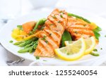 delicious food in a flatlays.... | Shutterstock . vector #1255240054