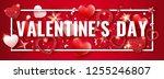 valentines day horizontal... | Shutterstock .eps vector #1255246807