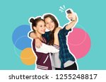 technology and friendship... | Shutterstock . vector #1255248817
