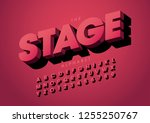 vector of stylized modern font... | Shutterstock .eps vector #1255250767