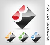 abstract icon based on the... | Shutterstock .eps vector #125525219