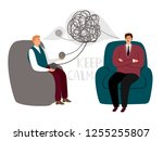 psychotherapy counsel concept ... | Shutterstock .eps vector #1255255807