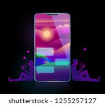 vector illustration of romance... | Shutterstock .eps vector #1255257127