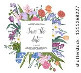 wedding invitation. vector... | Shutterstock .eps vector #1255268227