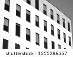 facade fragment of a modern... | Shutterstock . vector #1255286557