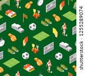 soccer sport game signs 3d... | Shutterstock .eps vector #1255289074