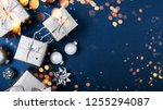 merry christmas and happy... | Shutterstock . vector #1255294087