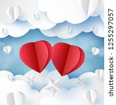 love concept and happy... | Shutterstock .eps vector #1255297057