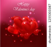 happy valentine's day  3d... | Shutterstock .eps vector #1255303387