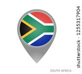 map pointer with flag of south... | Shutterstock .eps vector #1255317904