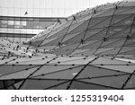 building structures aluminum... | Shutterstock . vector #1255319404