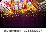 casino dice banner signboard on ...   Shutterstock .eps vector #1255333327