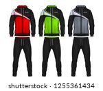 sport track suit design... | Shutterstock .eps vector #1255361434