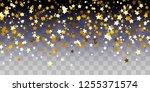 golden starry confetti on... | Shutterstock .eps vector #1255371574