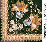 quarter of shawl with fairytale ... | Shutterstock .eps vector #1255377364