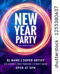 new year colorful celebration... | Shutterstock .eps vector #1255380637