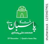 25th december   quaid e azam... | Shutterstock .eps vector #1255407901
