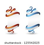 paper banners with ribbons | Shutterstock .eps vector #125542025